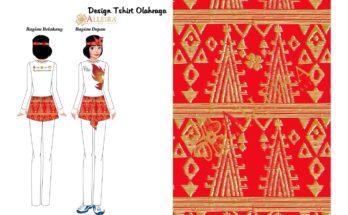 seragam tari poco poco Alleira Batik